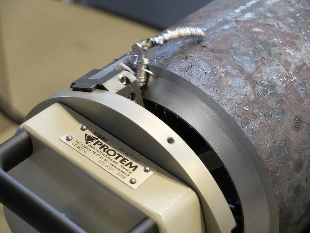 US40 - Chanfreineuse de tubes avec motorisation pneumatique Préparation à la soudure